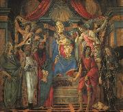 San Barnaba Altarpiece (Madonna Enthroned with Saints) gfj Botticelli