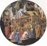 Filippo Lippi,Adoration of the Magi Botticelli