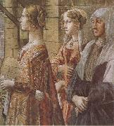 Domenico Ghirlandaio stories of St john the Baptist the Visitation Botticelli