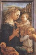 Filippo Lippi,Madonna with Child and Angels or Uffizi Madonna Botticelli