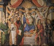 Son with six saints of Notre Dame Botticelli