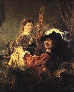 Rembrandt and Saskia in the parable of the Prodigal Son Rembrandt Peale