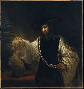 Aristotle with a Bust of Homer Rembrandt Peale