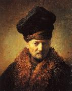 Bust of an Old Man in a Fur Cap Rembrandt Peale