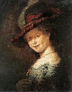 Portrait of the Young Saskia Rembrandt Peale