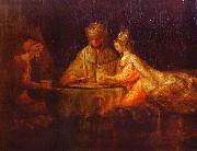Ahasuerus and Haman at the Feast of Esther Rembrandt Peale