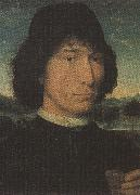 Hans Memling,Man with a Medal (mk36) Botticelli