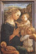 Filippo Lippi.Madonna with Child and Angels or Uffizi Madonna (mk36) Botticelli