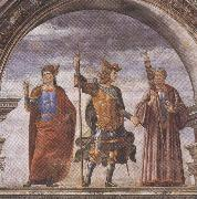 Domenico Ghirlandaio and Assistants,The Roman heroes Decius Mure,Scipio and Cicero (mk36) Botticelli