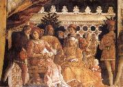The Gonzaga Family and Retinue finished MANTEGNA, Andrea