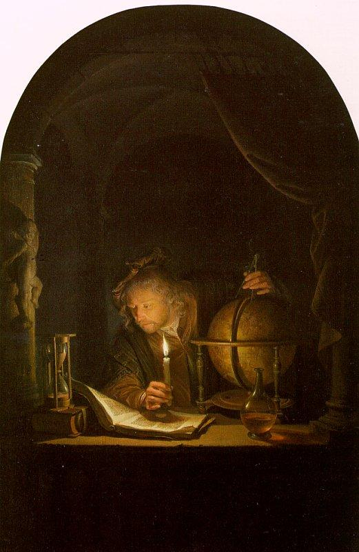 Astronomer By Candlelight. Gerrit Dou Astronomer by Candlelight