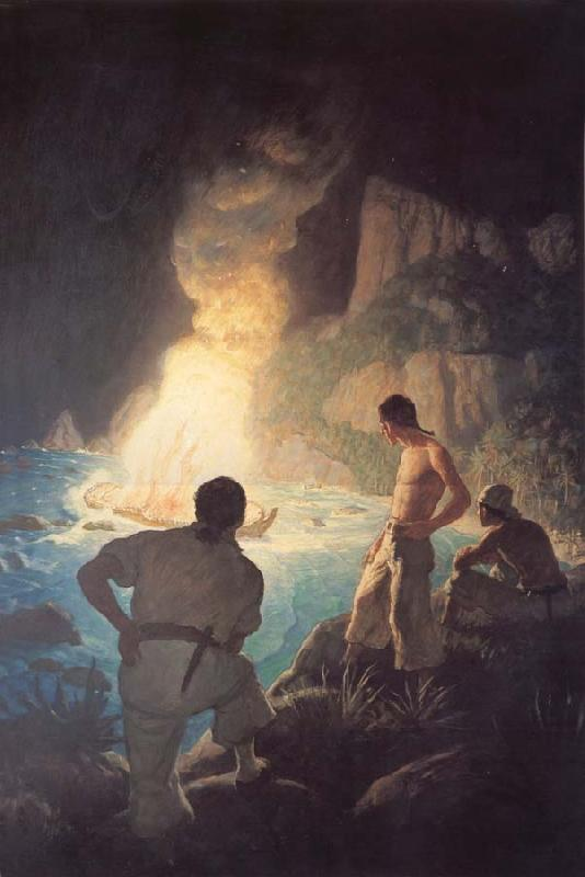 NC Wyeth She Makes a Grand Light