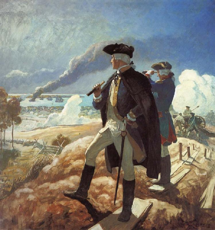 NC Wyeth George Washington at Yorktown