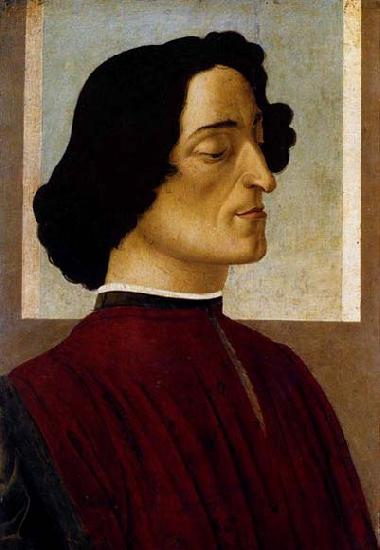 BOTTICELLI, Sandro Portrait of Giuliano de- Medici