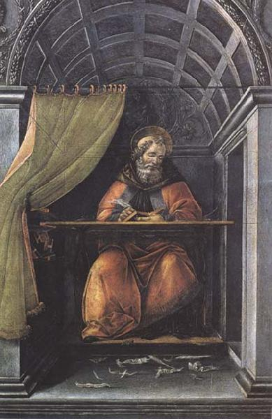 Sandro Botticelli St Augustine in his Study