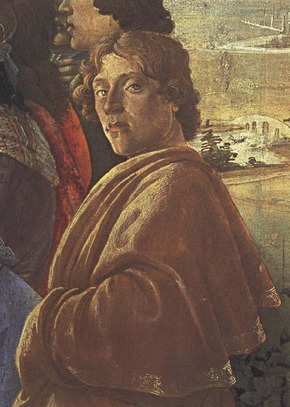 Sandro Botticelli Detail from the Adoraton of the Magi