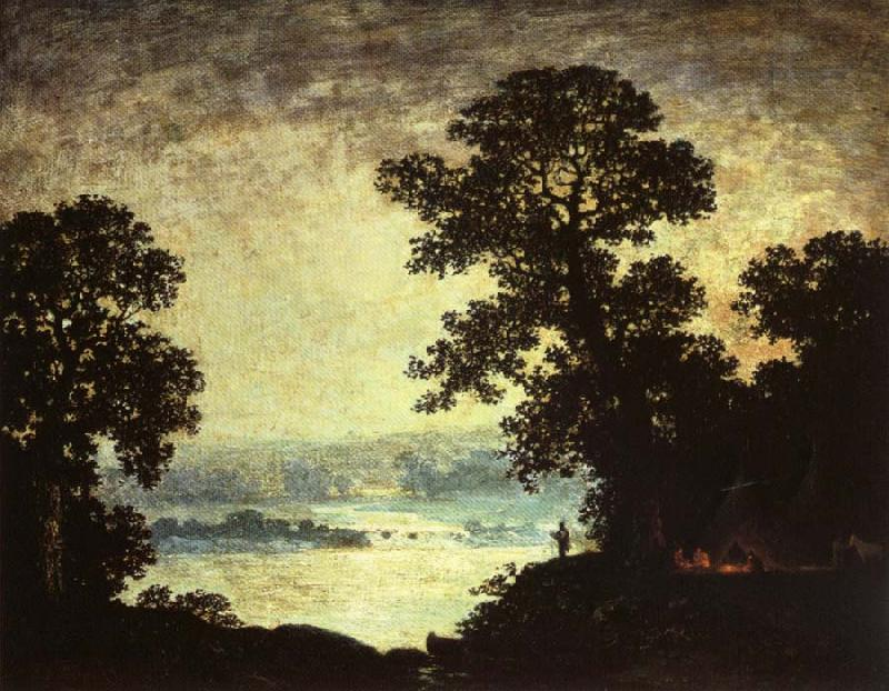 Ralph Blakelock Moonlight Indian Encampment